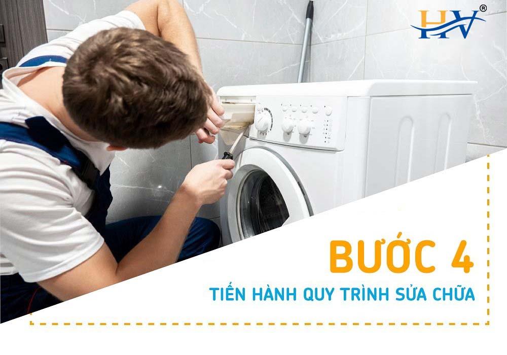 Bước 4 sửa máy giặt